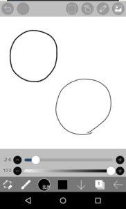 細い線の円