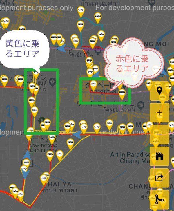 チェンマイバス路線図