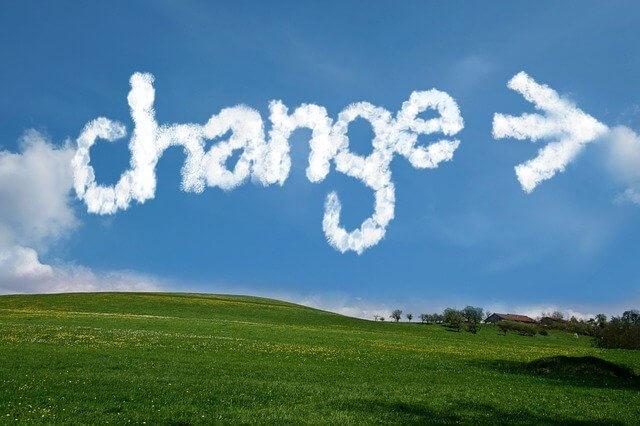 changeという形の雲